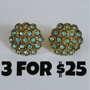 Vintage Gold Tone Screw Back Earrings